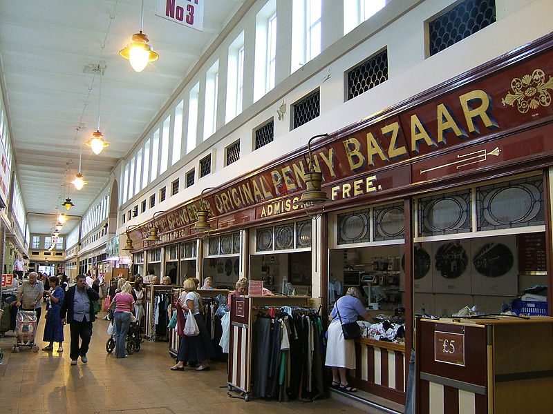 Photograph of the front of the Penny Bazaar
